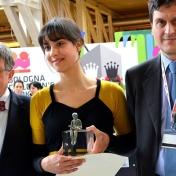 Catarina Sobral premiata alla Fiera di Bologna. Foto Pati Peccin